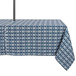 Design Import Ikat Indoor/Outdoor Tablecloth in Blue