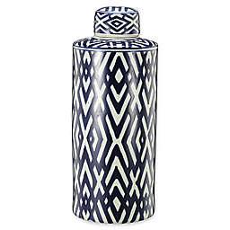 A&B Home Carlyle Large Ceramic Hexagonal Jar