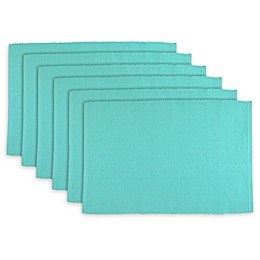 Design Imports Ribbed Placemats (Set of 6)