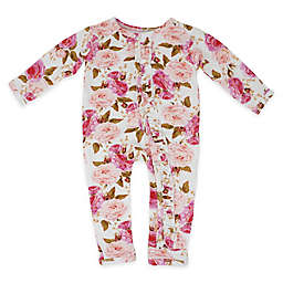 Posh Peanut Floral Long Sleeve Coverall in Pink