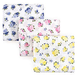 Luvable Friends 3-Pack Floral Muslin Swaddle Blanket