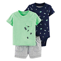 carter's® 3-Piece Bug-Print Diaper Cover Set