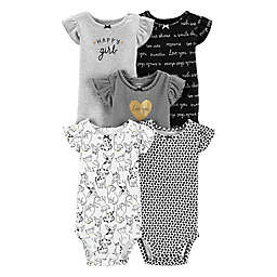 Carter's® Flutter-Sleeve Body Suits (Pack of 5)