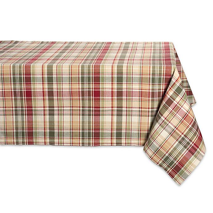 Alternate image 1 for Design Imports Give Thanks Plaid Tablecloth