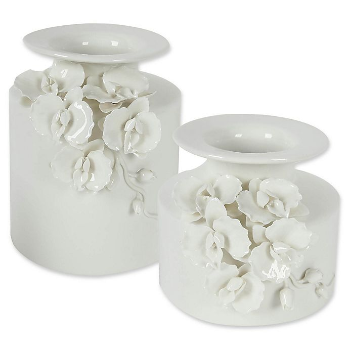 Alternate image 1 for A&B Home Ceramic Floral Vase in White