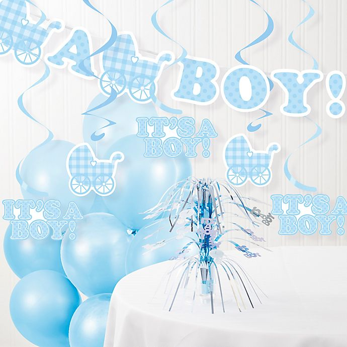 Creative Converting It S A Boy Baby Shower Party Decorations Kit