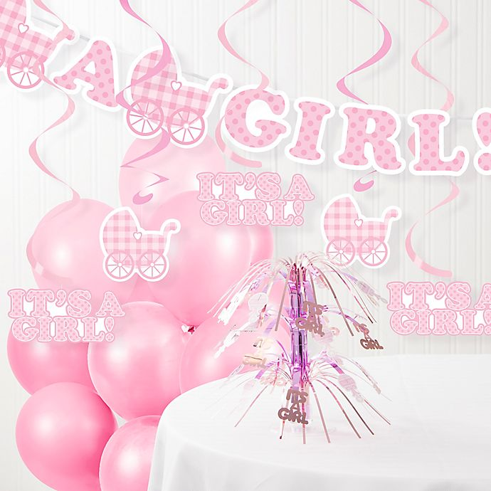 Creative Converting It S A Girl Baby Shower Decorations Kit Buybuy Baby