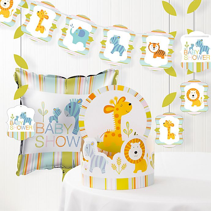 Alternate image 1 for Creative Converting™ Happi Jungle Baby Shower Decorations Kit