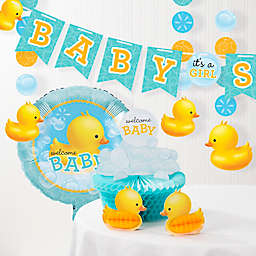 Creative Converting™ Bubble Bath Rubber Duck Baby Shower Decorations Kit