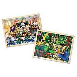 Melissa & Doug® Rain Forest & Sea Wooden Jigsaw Puzzles (Set of 2)