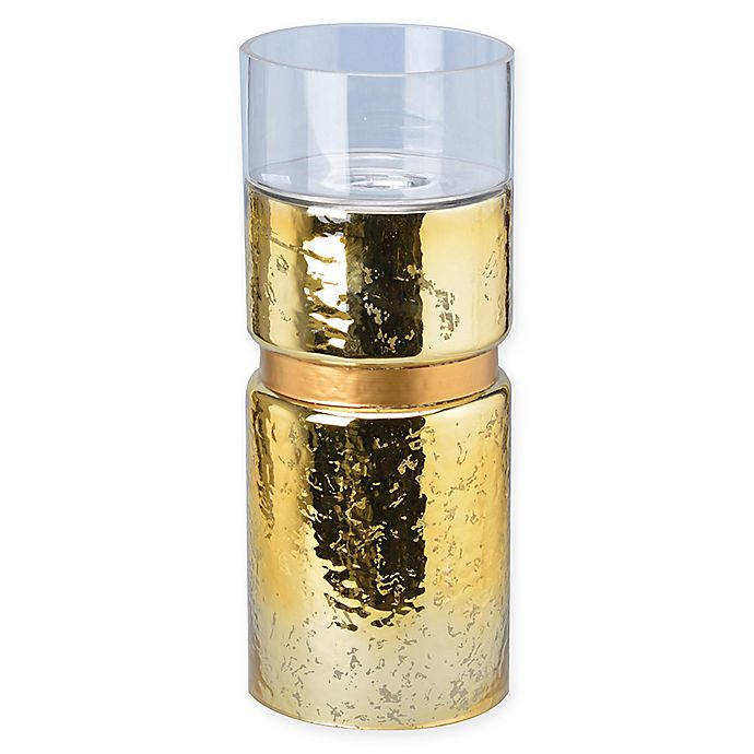 Alternate image 1 for A&B Home Halloway Medium Glass Candle Holder in Gold