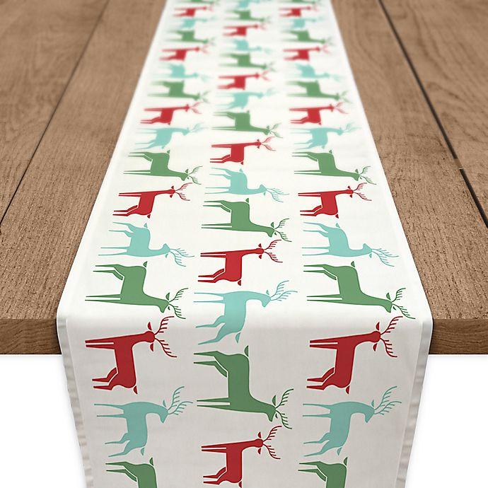 Alternate image 1 for Christmas Reindeer 72-Inch Table Runner in Blue
