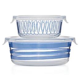 kate spade new york Charlotte Street™ 2-Piece Food Storage Set in Blue