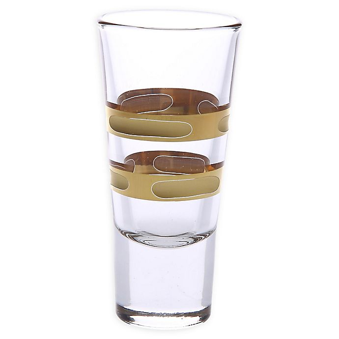 Alternate image 1 for Classic Touch 14K Gold Brick Shot Glasses (Set of 6)