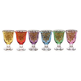Classic Touch Glim Assorted Short Stem Glasses (Set of 6)