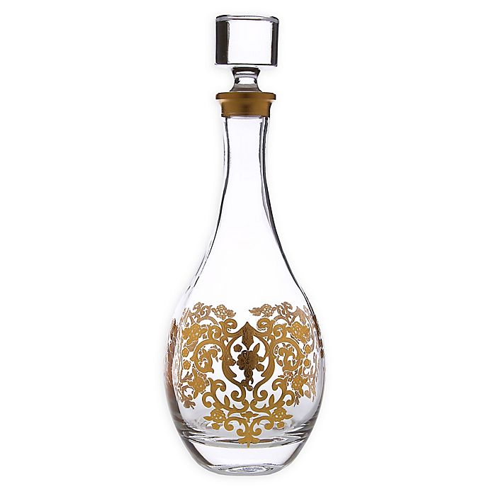 Alternate image 1 for Classic Touch Gold Artwork Wine Decanter