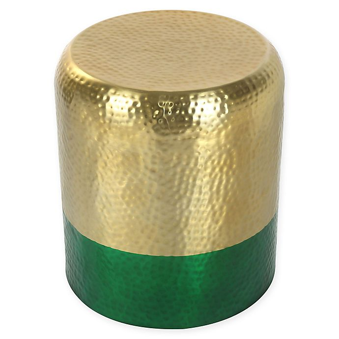 Alternate image 1 for Zuo® Mia Hammered Steel Accent Table in Gold/Green