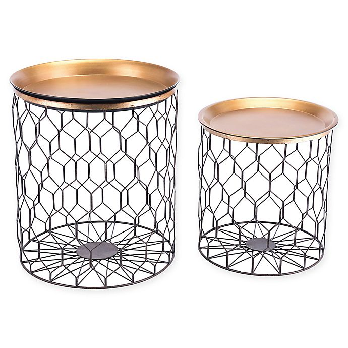 Alternate image 1 for Zuo® Oriente Tray-Top Accent Tables (Set of 2)