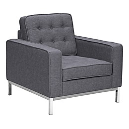 Armen Living Chandler Chair in Dark Grey