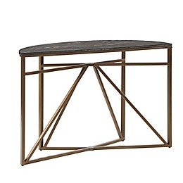 Madison Park Kayden Console Table in Black/Bronze