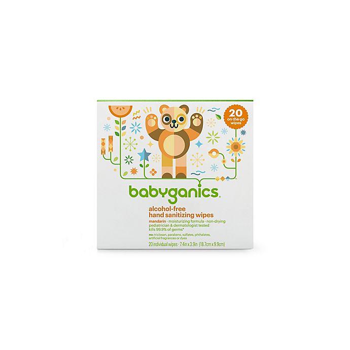 Alternate image 1 for Babyganics® 20-Count On the Go Mandarin Alcohol-Free Hand Sanitizing Wipes