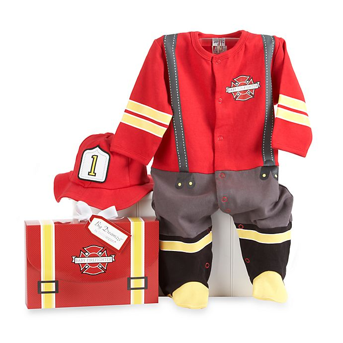 Alternate image 1 for Baby Aspen Big Dreamzzz Baby Firefighter 2-Piece Layette Set in Gift Box