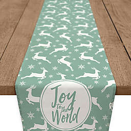 Joy Deer Table Runner in Green