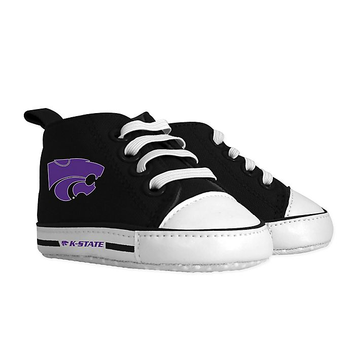 Alternate image 1 for Baby Fanatic® University of Kansas Pre-Walk Size 1 Hightop Shoe in Black