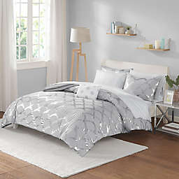Intelligent Design Lorna 6-Piece Twin XL Comforter Set in Grey