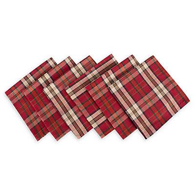 Design Imports Campfire Plaid Napkins (Set of 6)