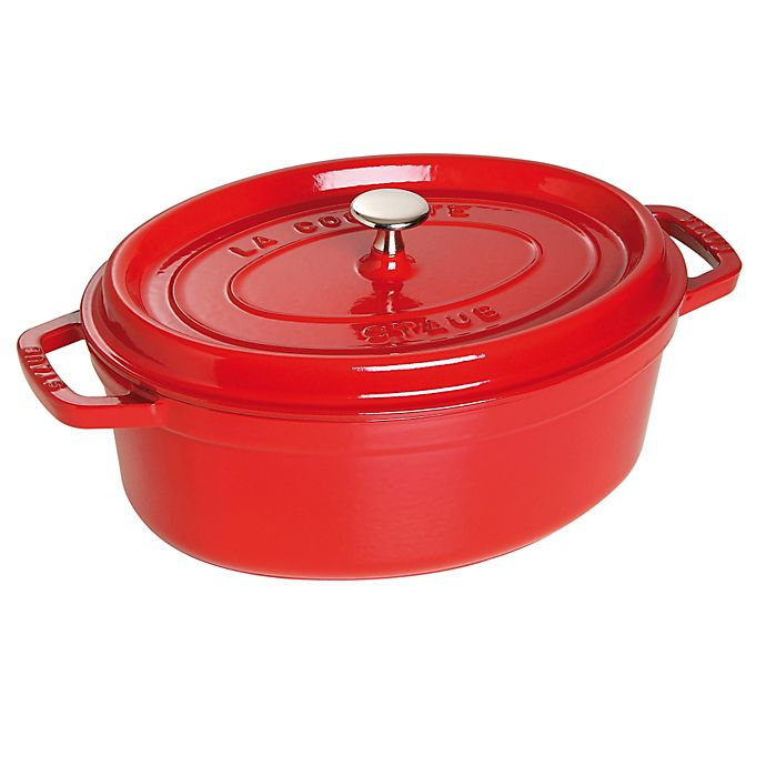 Alternate image 1 for Staub 7-Quart Oval Cocotte in Cherry