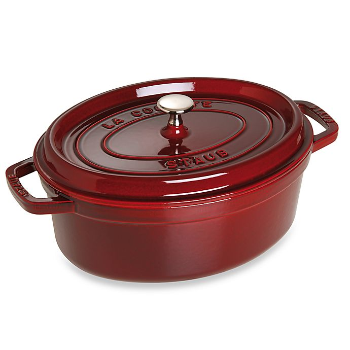 Alternate image 1 for Staub 8.5-Quart Oval Cocotte in Dark Red