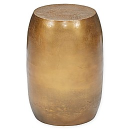 Harbor House™ Drum Antique Brass Stool Table