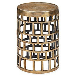 Harbor House™ Drum Antique Brass Lattice Accent Table