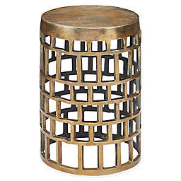 Brass Drum Side Table Bed Bath Beyond