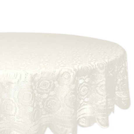 Vintage Lace 63 Inch Round Tablecloth, Round Lace Table Toppers
