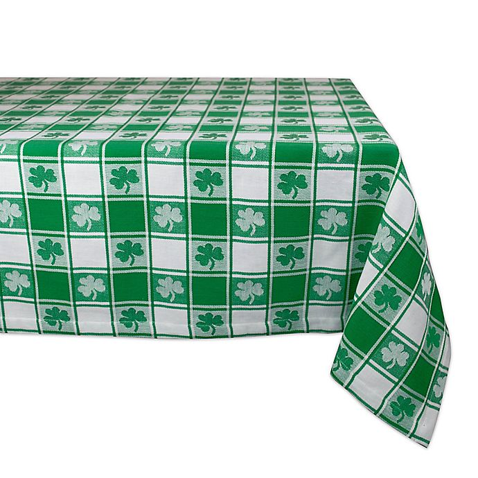 Design Imports Shamrock Check 60-Inch x 84-Inch Oblong ...