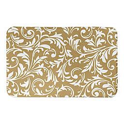 Designs Direct Baroque 21-Inch x 34-Inch Bath Mat in Gold