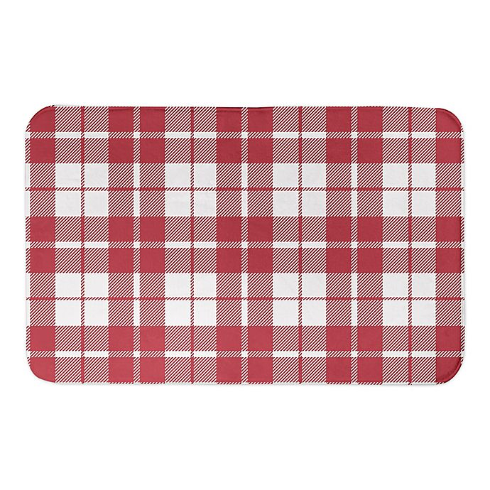 Alternate image 1 for Designs Direct Red Plaid 34\