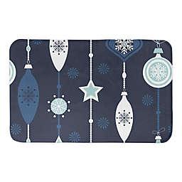 "Designs Direct Blue Ornament 34"" x 21"" Bath Mat"