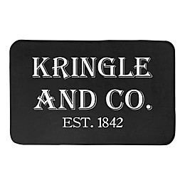 """Designs Direct Kringle and Co. 34"""" x 21"""" Bath Mat in Black"""