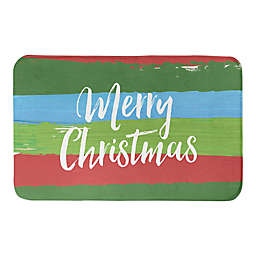"Designs Direct Painty Christmas 34"" x 21"" Bath Mat in Green"