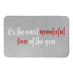 "Designs Direct 34"" x 21"" Most Wonderful Time of the Year Bath Mat"