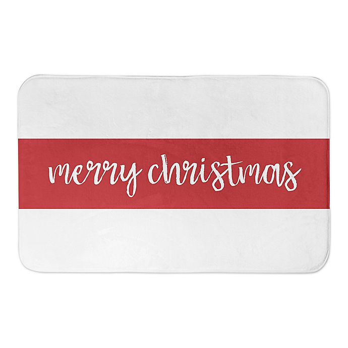 Alternate image 1 for Designs Direct Merry Christmas Stripes 34\