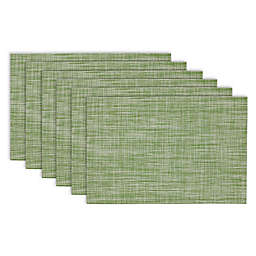 Design Imports Tweed Fig Green Placemats (Set of 6)
