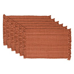 Design Imports Variegated Fringe Placemats (Set of 6)