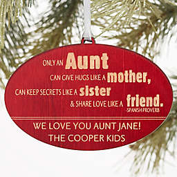 Special Aunt Personalized Wood Ornament