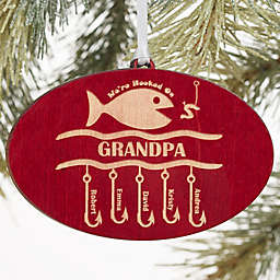 Hooked On You Engraved Christmas Wood Ornament