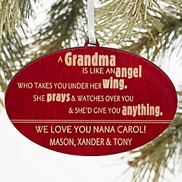 Wonderful Grandma Christmas Wood Ornament