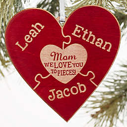 We Love Her to Pieces Wood Gift Topper